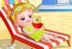 Baby Hazel in spiaggia