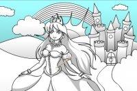 Colora il Castello e la Principessa