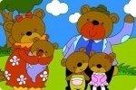Colora la famiglia degli orsi