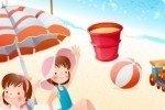 Gemelli in spiaggia