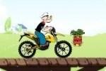 In motocicletta con Braccio di Ferro