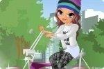 Layla in bicicletta