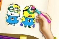 Libretto da colorare dei Minions