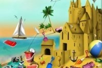 Oggetti per il castello di sabbia