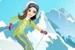 Vesti la ragazza con gli sci
