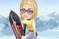 Vesti la ragazza dello snowboard
